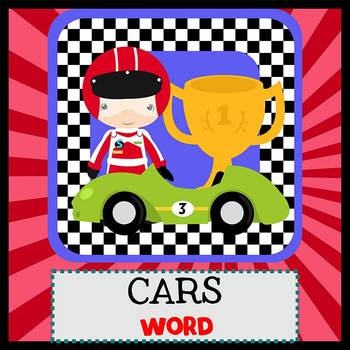 RACE CARS - Newsletter Template WORD