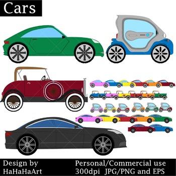 CARS Set Clipart - Digital Clip Art Graphics 29 images cod15