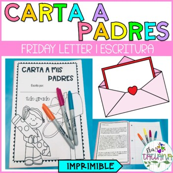CARTA A PADRES/FRIDAY LETTER
