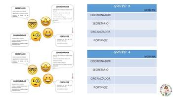 CARTEL PARA MESA: Grupos cooperativos (CAST)