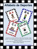 CARTELES DEL ABECEDARIO DE DEPORTES. Sport Alphabet Posters in Spanish.