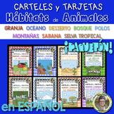 Bundle!¡Paquetón! CARTELES y TARJETAS (8) Hábitats de Anim