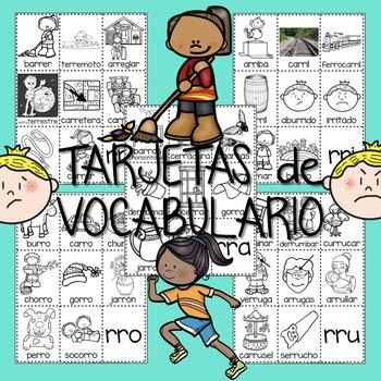 CARTELES y TARJETAS Vocabulario con RR Grados 1-3