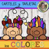 CARTELES y TARJETAS los COLORES en ESPAÑOL Gr. K-3