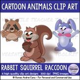 CLIP ART CARTOON ANIMAL BUDDIES (BUNDLE)