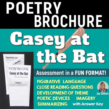 CASEY AT THE BAT - Foldable Poetry Brochure - Common Core
