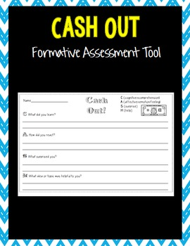 CASH out Formative Assessment