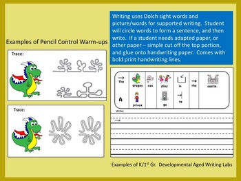 CASTLE THEMED  FINE MOTOR BUNDLE / DIFFERENTIATED WRITING FOR SPECIAL EDUCATION