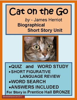 CAT ON THE GO by James Herriot, Short Story Unit