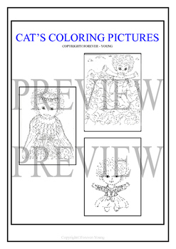 CAT'S COLORING PICTURES