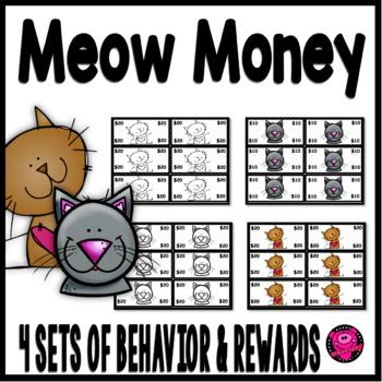 Cat Theme Character Education Rewards and Behavior Set