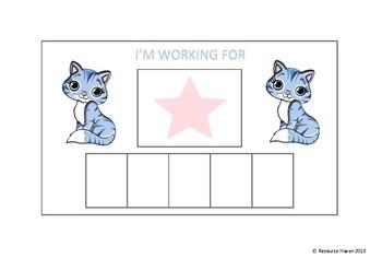 CAT THEMED REWARD CHARTS
