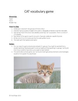 CAT Vocabulary game/activity