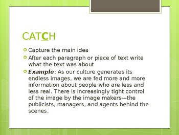 CATCH Presentation
