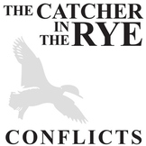 THE CATCHER IN THE RYE Conflict Graphic Organizer - 6 Types