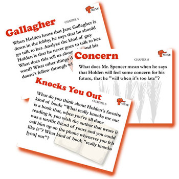 THE CATCHER IN THE RYE Journal - Quickwrite Writing Prompts - PowerPoint