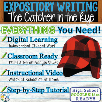 Catcher in the Rye by J. D. Salinger  Text Dependent Analysis Expository Writing