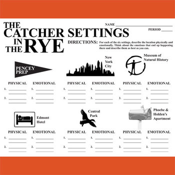 THE CATCHER IN THE RYE Setting Organizer - Physical & Emotional