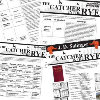 THE CATCHER IN THE RYE Unit Novel Study (J. D. Salinger) - Literature Guide