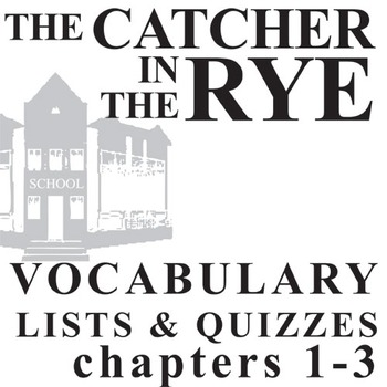 THE CATCHER IN THE RYE Vocabulary List and Quiz (30 words, chs 1-3)