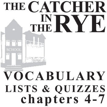 THE CATCHER IN THE RYE Vocabulary List and Quiz (30 words, chs 4-7)