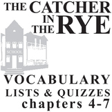 THE CATCHER IN THE RYE Vocabulary List and Quiz (30 words,