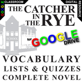 CATCHER IN THE RYE Vocabulary List and Quiz Assessment (Cr
