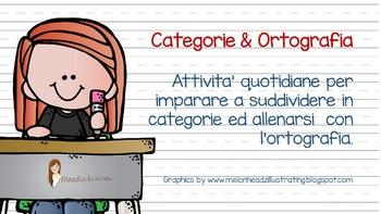 CATEGORIE & ORTOGRAFIA