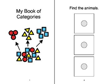CATEGORIES ADAPTED Velcro BOOK, Speech Therapy, Autism