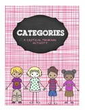 CATEGORIES Free Write Brainstorming Great for Subs!