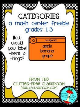 CATEGORIES (Graphing Data Practice)  TASK CARDS / MATH CENTERS Common Core