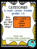 CATEGORIES (Graphing Data Practice)  TASK CARDS / MATH CEN