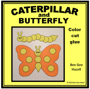 CATERPILLAR and BUTTERFLY (Spring Craft)