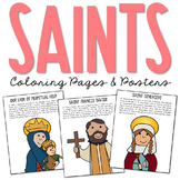 CATHOLIC SAINTS Biography Coloring Pages and Posters