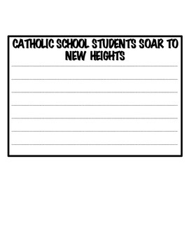 CATHOLIC SCHOOLS' WEEK- WE ARE UPLIFTING AND OUR STUDENTS SOAR TO NEW HEIGHTS!