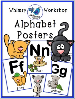 CATS Alphabet Posters Room Decor (Whimsy Workshop Teaching)