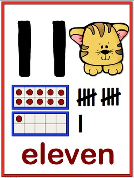 CATS Numbers to 20 Posters Room Decor (Whimsy Workshop Teaching)