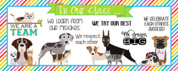CATS and DOGS theme - Classroom Decor: LARGE BANNER, In Our Class - horizontal