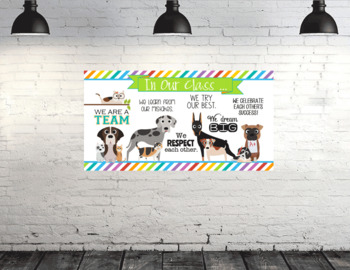 CATS and DOGS theme - Classroom Decor: SMALL BANNER, In Our Class - horizontal