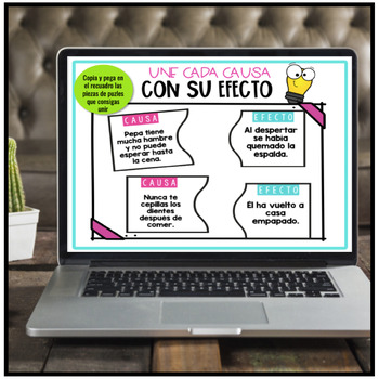 SPANISH: CAUSE AND EFFECT (CAUSA Y EFECTO)-  Differentiated Task Cards