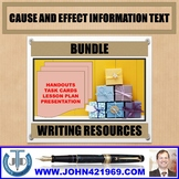 CAUSE AND EFFECT INFORMATION TEXT BUNDLE