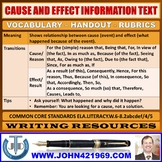 CAUSE AND EFFECT INFORMATION TEXT HANDOUTS
