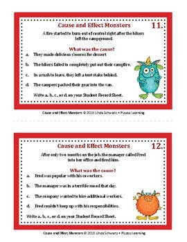 CAUSE AND EFFECT MONSTERS • GRADES 3–5