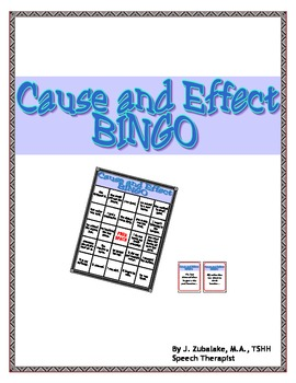 SPEECH THERAPY CAUSE and EFFECT BINGO!