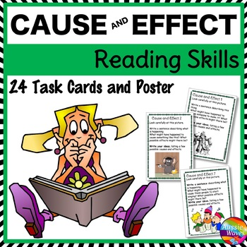 CAUSE and EFFECT Task Cards to Improve READING COMPREHENSI