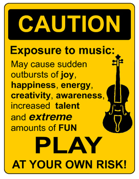 CAUTION Sign for String Orchestra Classrooms