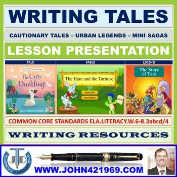 CAUTIONARY TALES URBAN LEGENDS MINI SAGAS LESSON PRESENTATION