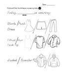 CBI Community Based Instruction/Field Trip Coloring Clothing Record
