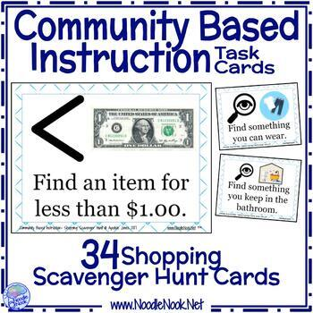 Cbi Shopping Scavenger Hunt Task Cards By Noodle Nook Tpt