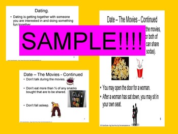 CBI Social Story Dating - Going To A Movie OHI/ODD/CP/ID/Autism/Sped/